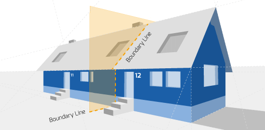 Party Wall illustration for Aberdare