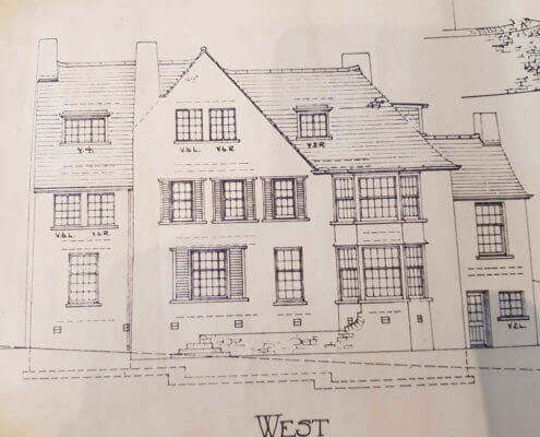 Aberdare  Surveyors. Building Plan of an old traditional house